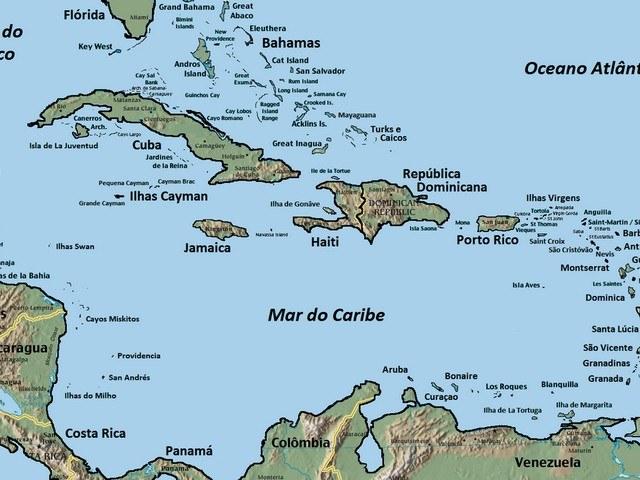 Onde Fica San Andres Mapa Caribe